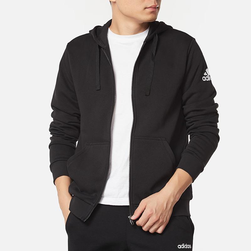 阿迪達斯外套男2019新款正品上衣秋冬季保暖拉鍊連帽運動夾克外套