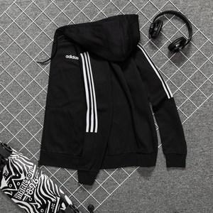 阿迪达斯三叶草外套男连帽官方正品运动服套装秋冬休闲夹克防风衣