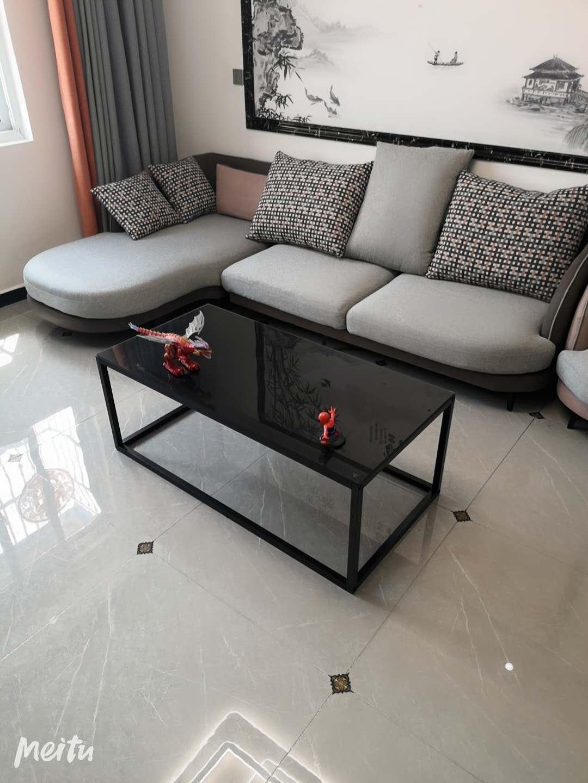 简约美式透明北欧个性创意茶几客厅长方形小桌子现代钢化玻璃面主图