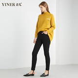 YINER Yiner outlets women's 2019 winter new elastic slim fit plus velvet foot pencil down pants