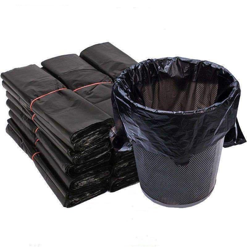 家用厨房垃圾袋加厚大号黑色手提背心式拉圾袋一次性塑料袋子厂家 No.4
