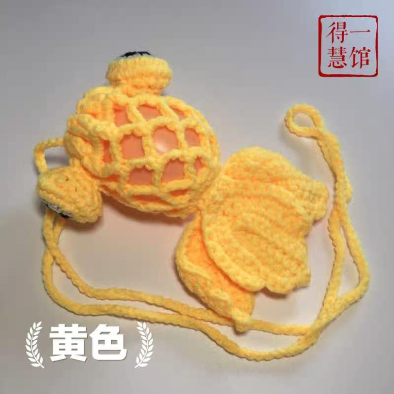 立夏蛋网端午节蛋套成品金鱼鸡鹅蛋网兜袋幼儿园护蛋神器手工编织