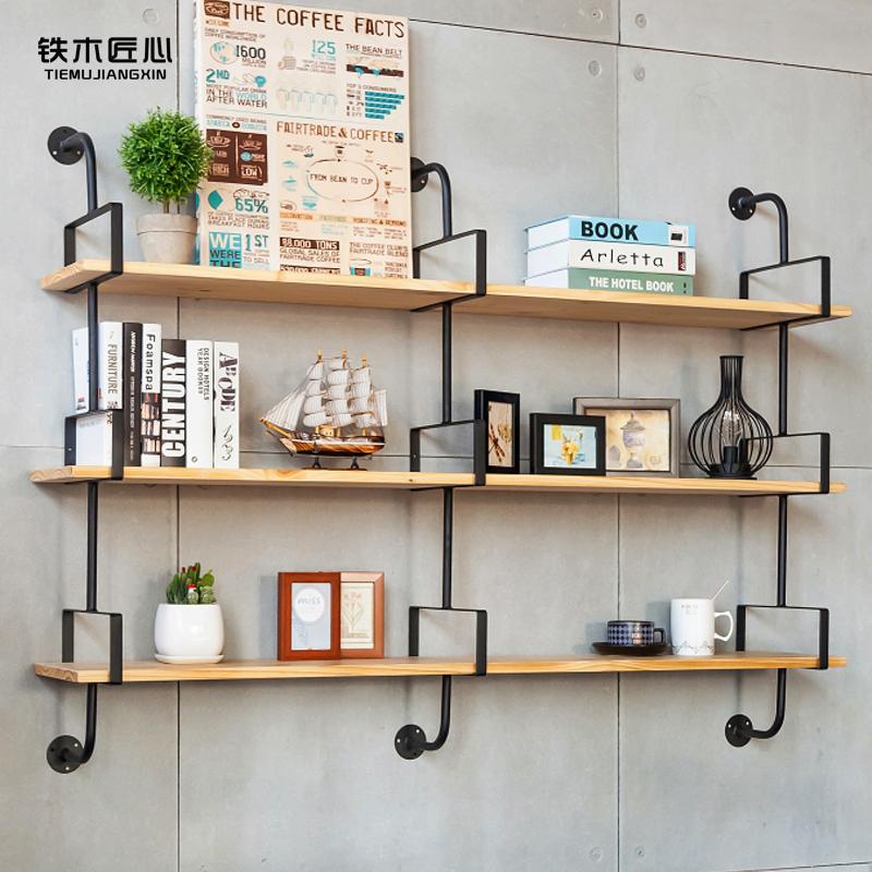 定制铁艺壁挂墙上一字隔板置物架书架花架多层墙壁收纳架橱柜架子