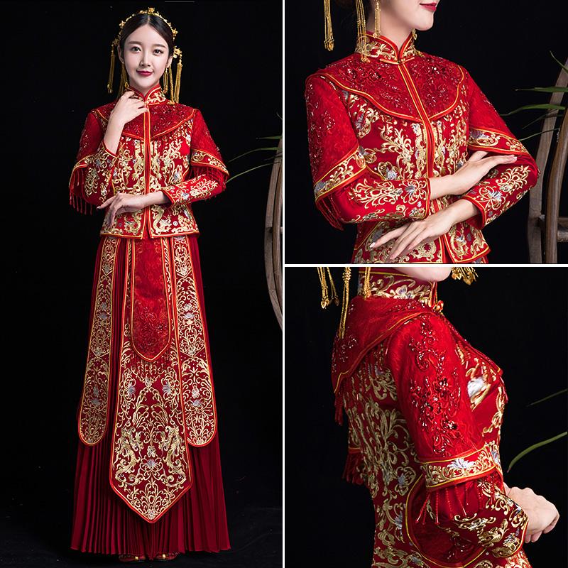 秀禾服新娘2020新款龙凤褂中式婚纱礼服结婚敬酒秀和显瘦大码2019