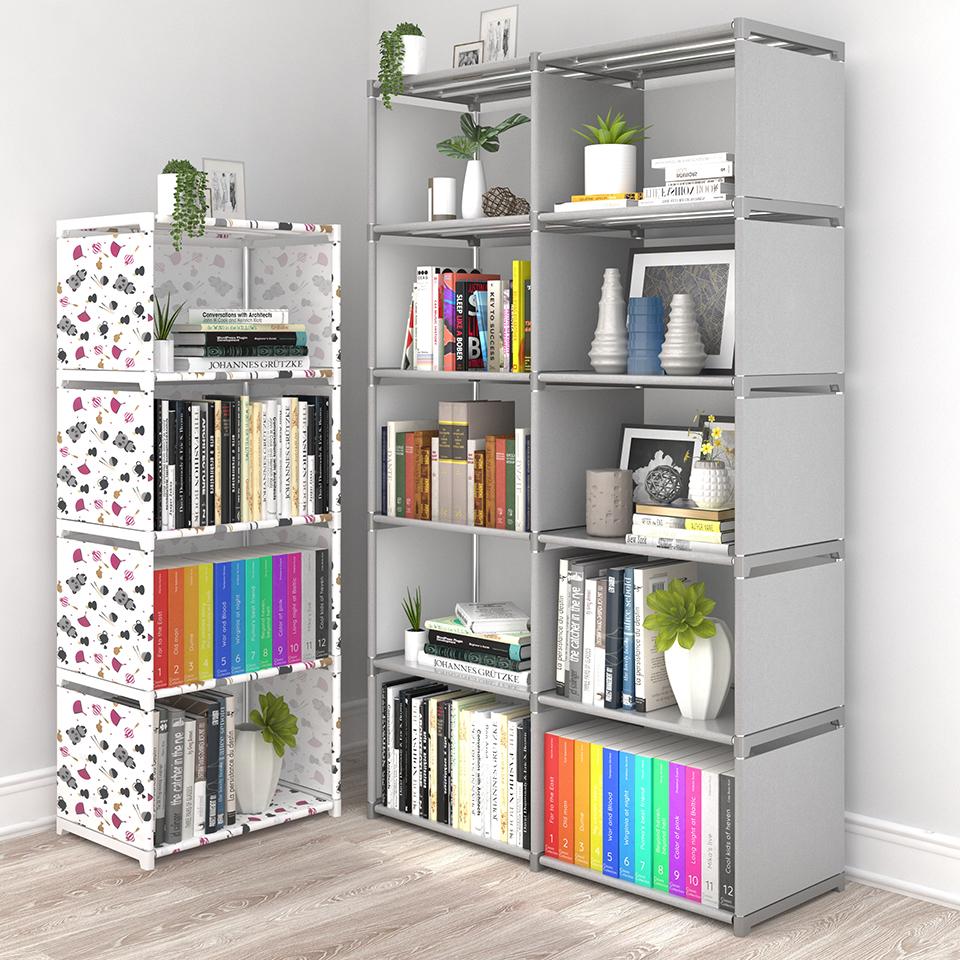 简易书架落地置物架学生宿舍书柜小书架桌上儿童简约收纳储物柜子