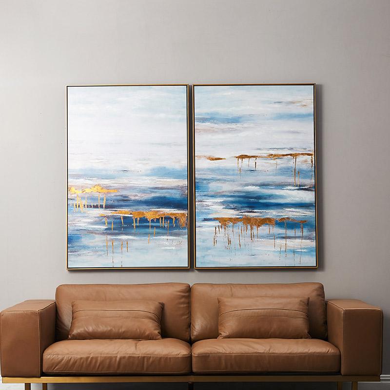 优梵艺术现代简约挂墙壁上装饰画框客厅沙发背景墙玄关挂画