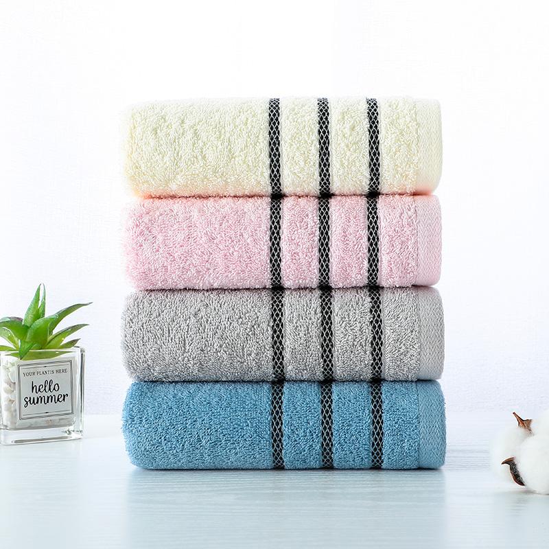洁丽雅毛巾10条装家用成人毛巾纯棉洗脸巾男女柔软吸水批发面巾