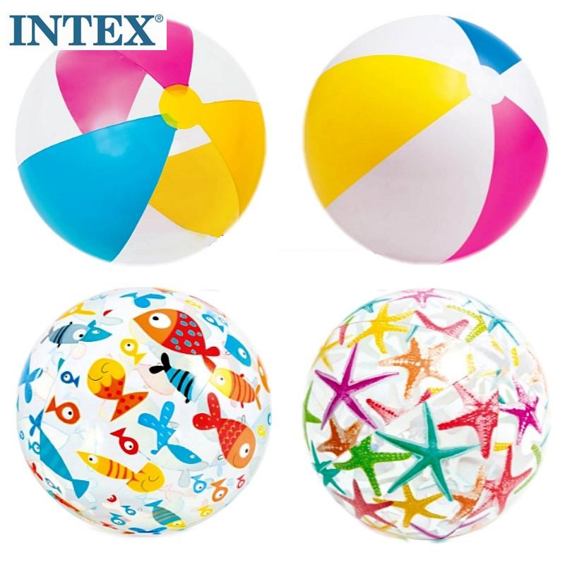 INTEX正品充氣沙灘球兒童戲水玩具成人水上泳池水球海邊遊戲手球
