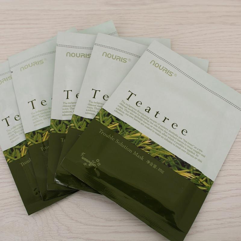 熊津化妝品正品娜瑞絲茶樹潔淨美肌面膜貼收縮毛孔控油補水 5貼