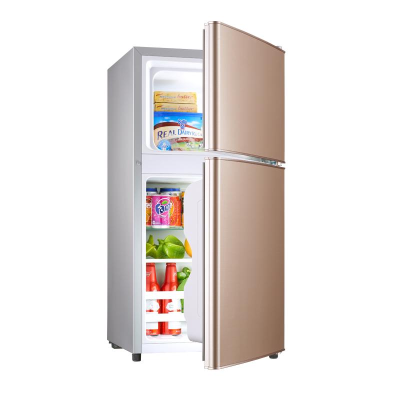 小型宿舍用家用二人世界双门储奶母乳冷藏冷冻 租房用 樱花小冰箱