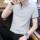 纯棉夏季短袖t恤男士潮流纯色polo衫青少年休闲半袖男装打底衫男 mini 4
