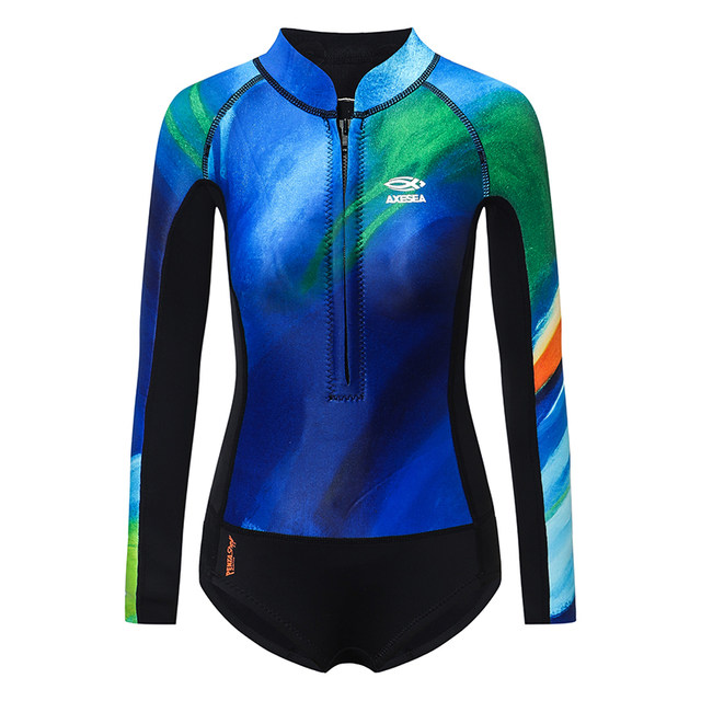AXESEA 2mm Wetsuit wet clothes female green water-based neoprene surfing suits CR cold wetsuit