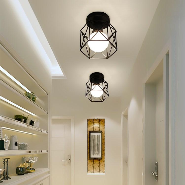 暗装过道安装嵌入式吊顶灯古典美容院床头灯罩吸顶灯底座楼梯