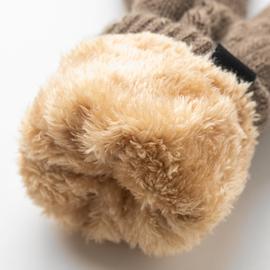 毛线触屏手套男士冬天女加绒加厚棉老人保暖冬季东北骑行防寒骑车