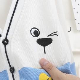 春秋婴儿毛衣纯棉开衫男女童宝宝夹克针织打底衫新生儿外套0-3岁4