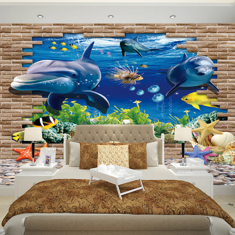Buy 3d stereoscopic underwater world dolphin children's ...