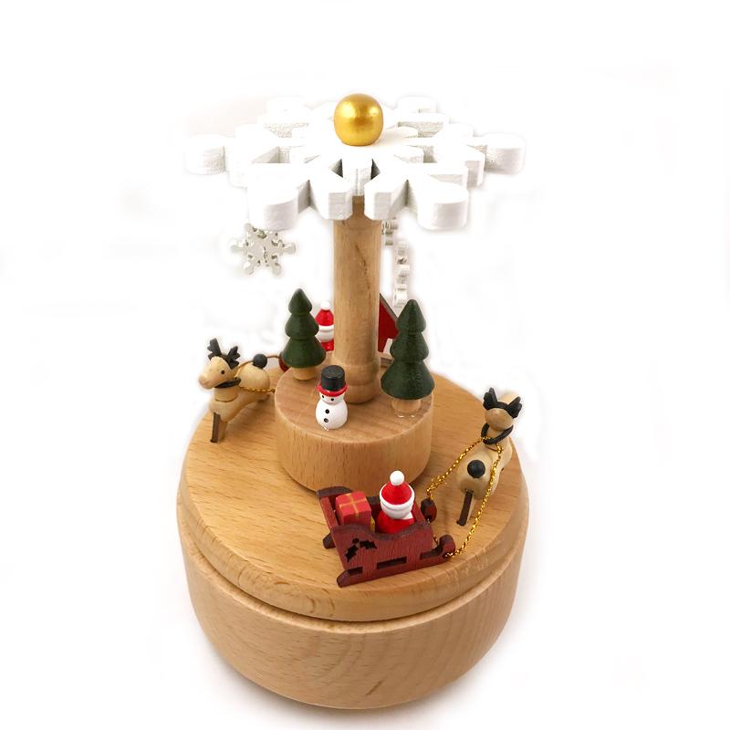 天空之城创意情人节八音盒礼物生日男女朋友原实木质摩天轮音乐盒