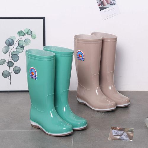 四季雨鞋女中筒韩国时尚耐磨雨靴成人套鞋工作防水鞋防滑水靴胶鞋