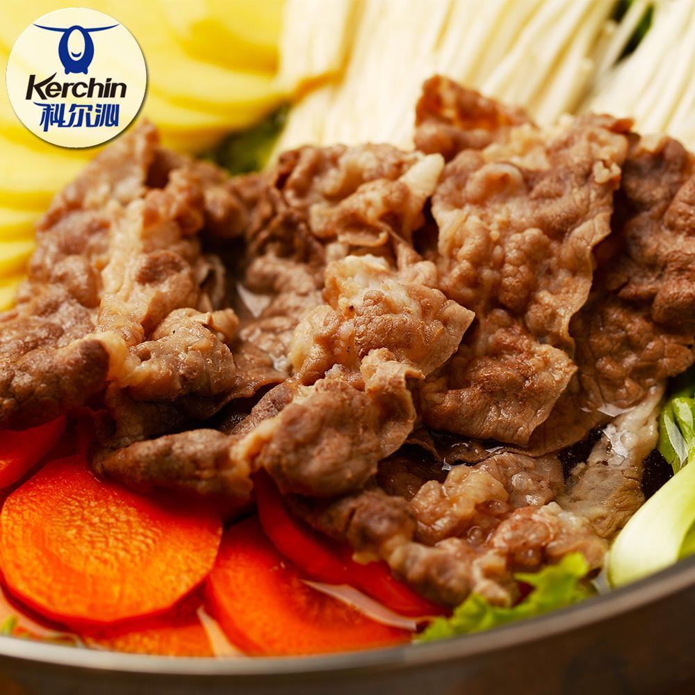 科尔沁肥牛卷500g*2袋 内蒙古草原火锅食材  牛肉卷 奥运会供应商