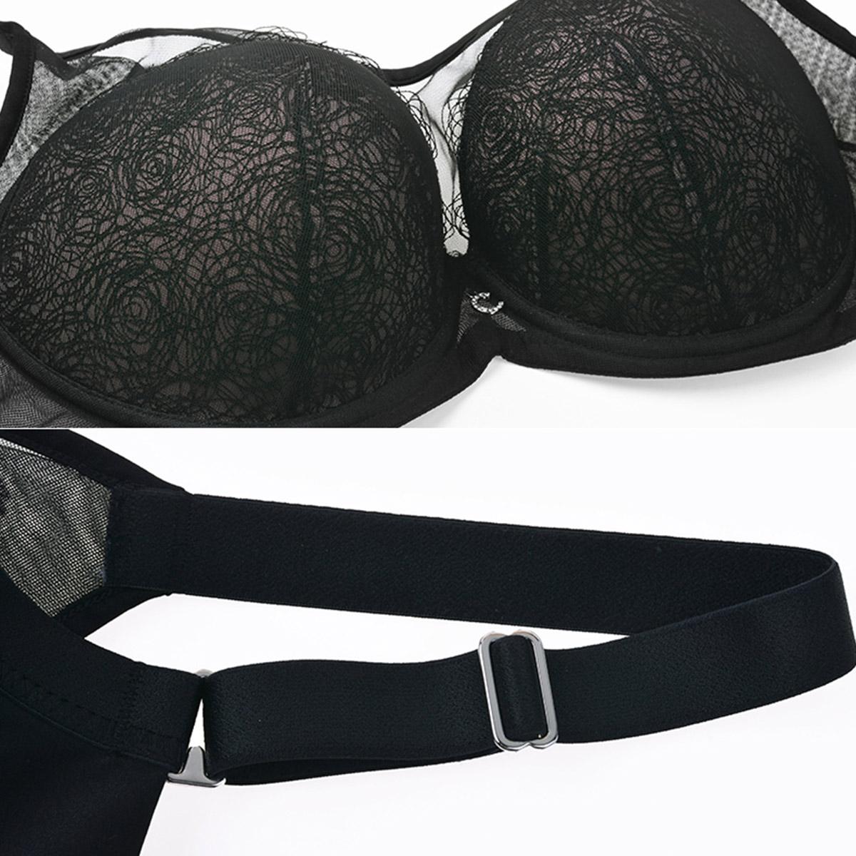 安莉芳旗下Comfit女薄款大码文胸蕾丝聚拢抹胸内衣CB0659/CB0660