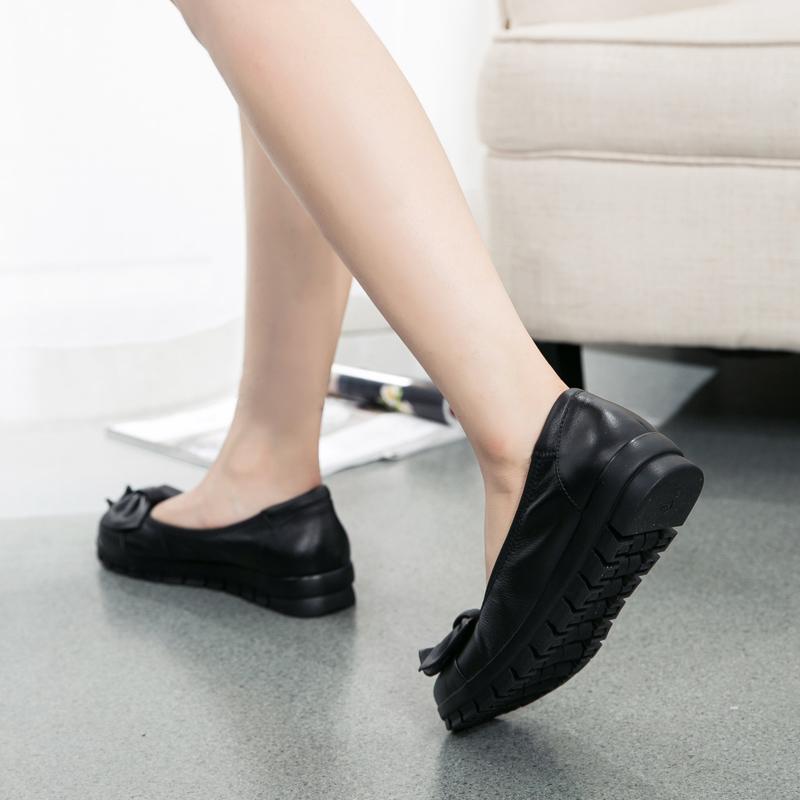 春夏新款女鞋真皮软底单鞋舒适中老年妈妈鞋中年女士上班工作皮鞋