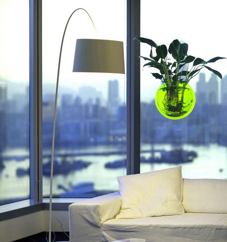 草缸壁挂鱼缸花瓶挂式花盆墙上装饰立体亚克力墙贴背景墙家居饰品