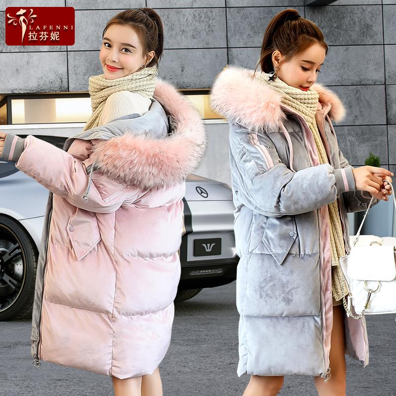 中长款棉袄过膝加厚ins棉服女冬2018新款面包服外套韩版金丝绒