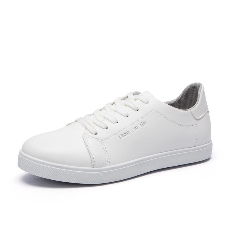 夏季新品透气休闲鞋子男士黑白色防滑耐磨简约潮板鞋韩版潮男鞋子