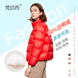 Thicken down jacket women 2019 winter new short paragraph stand collar fashion slim bread large size white duck down jacket