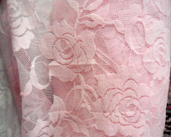 黑色玫瑰花弹力蕾丝布料/面料/披肩吊带连衣裙布料diy手工可布料