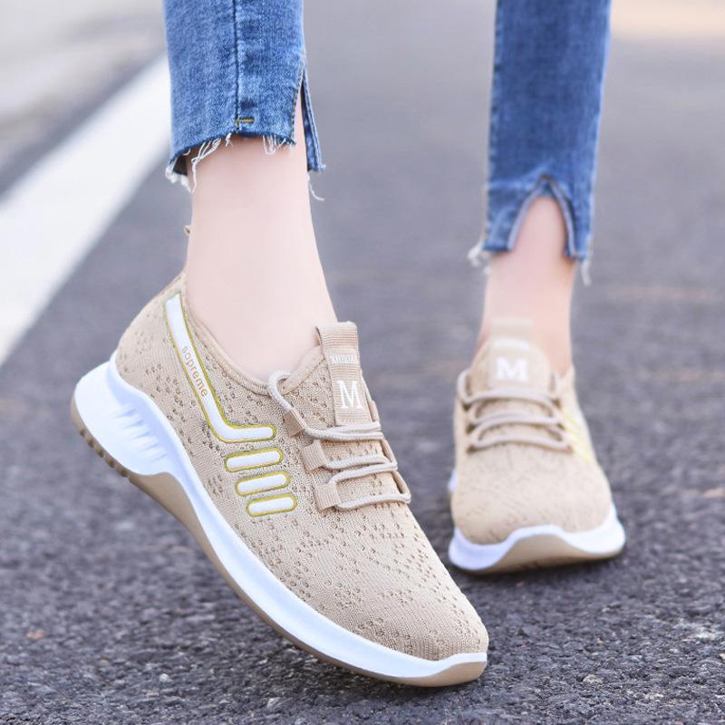 鞋子女春季2021新款外贸女鞋跨境休闲跑步鞋系带鞋shoes运动鞋女