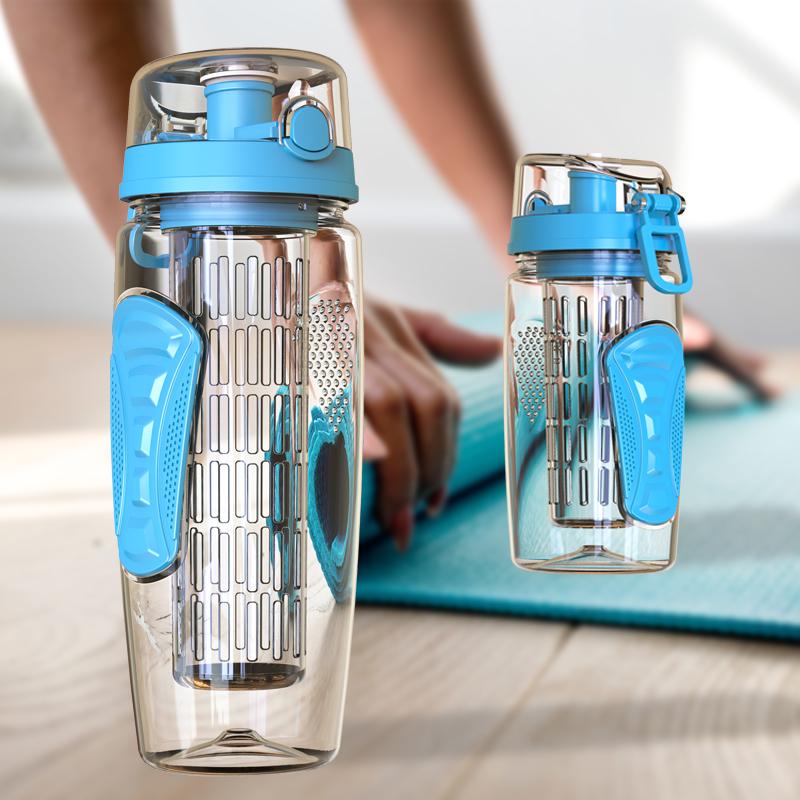 Tritan防摔水杯水果杯塑料便攜太空杯茶杯隨手杯運動水壺健身杯子