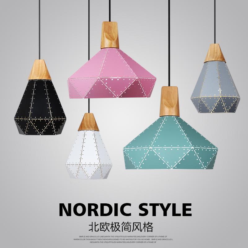 北欧风格吊灯创意餐厅灯现代简约卧室吧台吊灯铁艺实木个姓吊灯具
