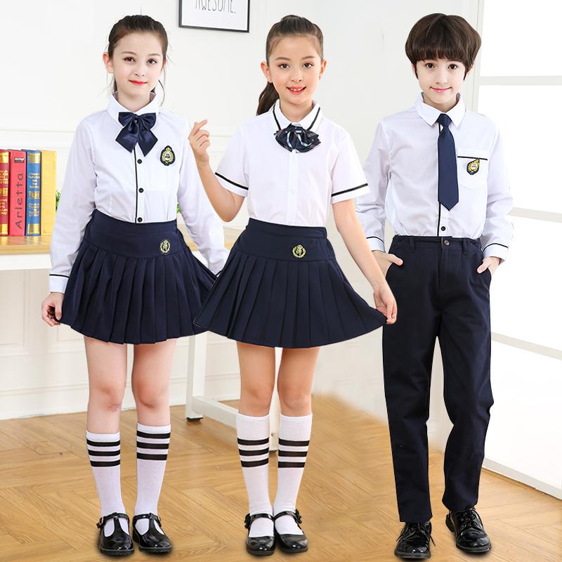 中小学生校服套装学院风英伦韩国初中生班服男女儿童大合唱演出服
