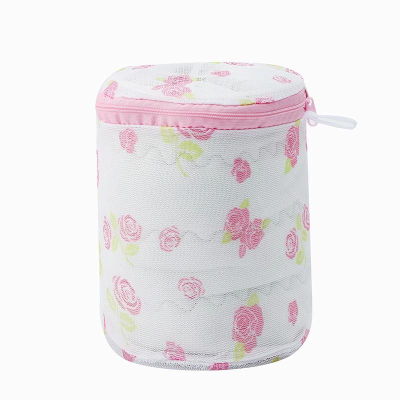 第2件半价\印花可折叠式内衣文胸洗衣袋带支架专用护洗袋带网布加