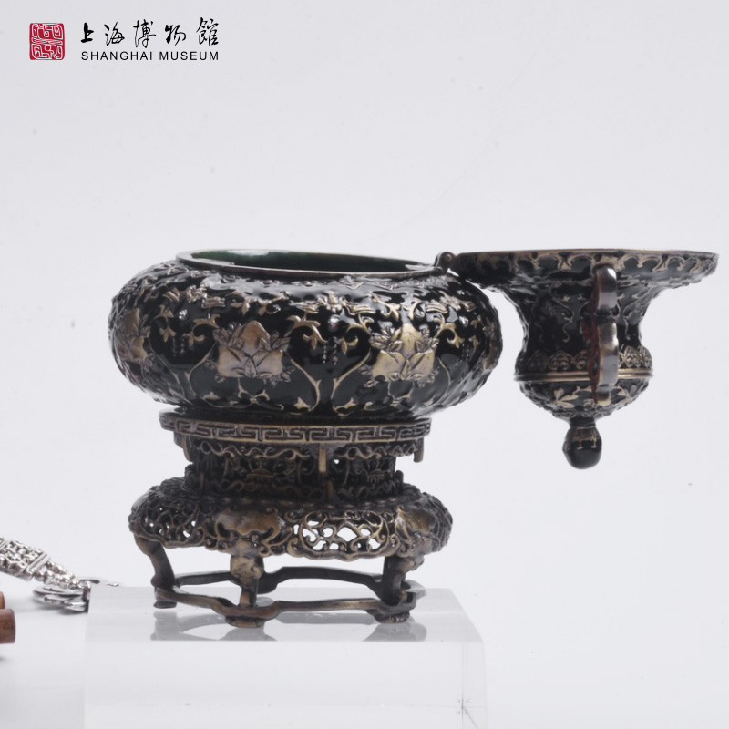金银桃果纹合金珠宝首饰盒创意摆件礼品生日礼物 上海博物馆