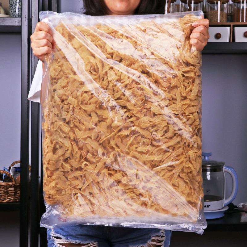 斤干货人造肉蛋白肉豆制品腐竹凉拌菜 5 油豆皮东北豆腐皮干豆皮丝