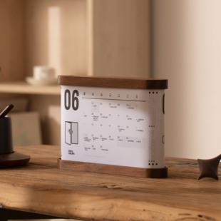 2020营销热点月历,创意桌面木质礼物