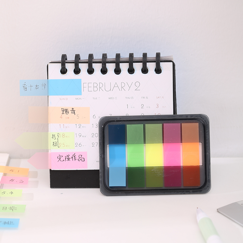 得力9060系列记事帖记号便签纸便利贴条指示条分类指示贴3包装