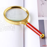 High magnification HD handheld glass phone magnifier 100MM old man reading children students 1000 times glasses