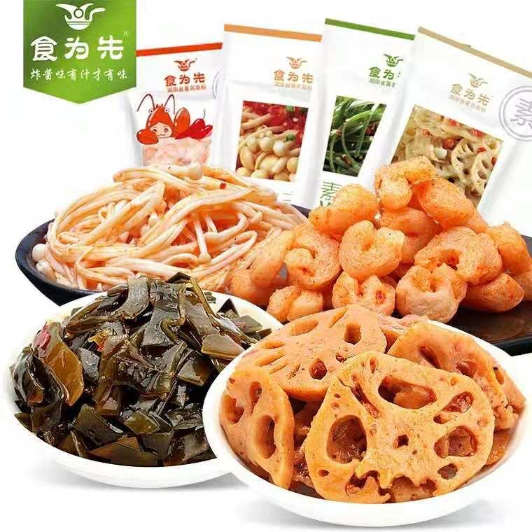 包香菇麻辣零食小吃下饭菜小包装休闲零食 20 25g 食为先金针菇香辣