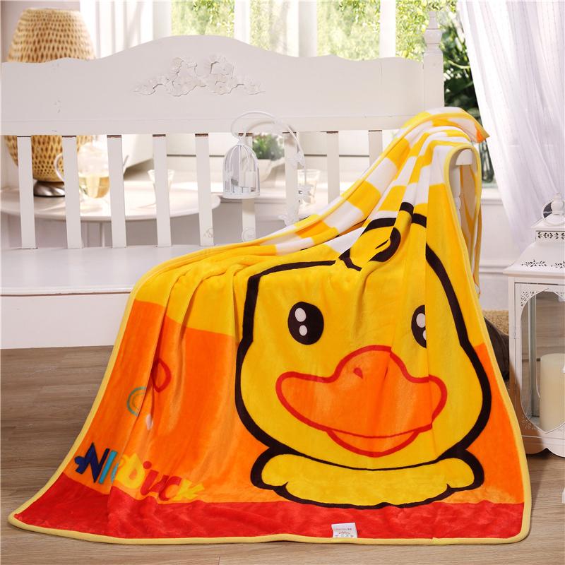 卡通毛毯春秋小毯子婴儿夏季薄款法兰绒幼儿园午睡办公