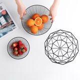 Light luxury Nordic style fruit plate creative living room home drain fruit basket simple modern iron snack storage basket