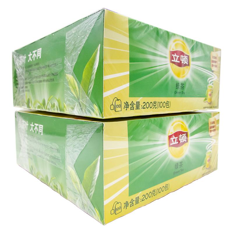泡 包 100 克泡茶包办公餐饮装 200 立顿黄牌精选绿茶 包邮立顿绿茶包