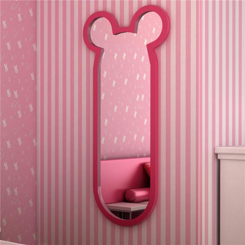 幸运猫卡通猫咪落地镜 壁挂创意穿衣镜 客厅卧室特色落地全身镜