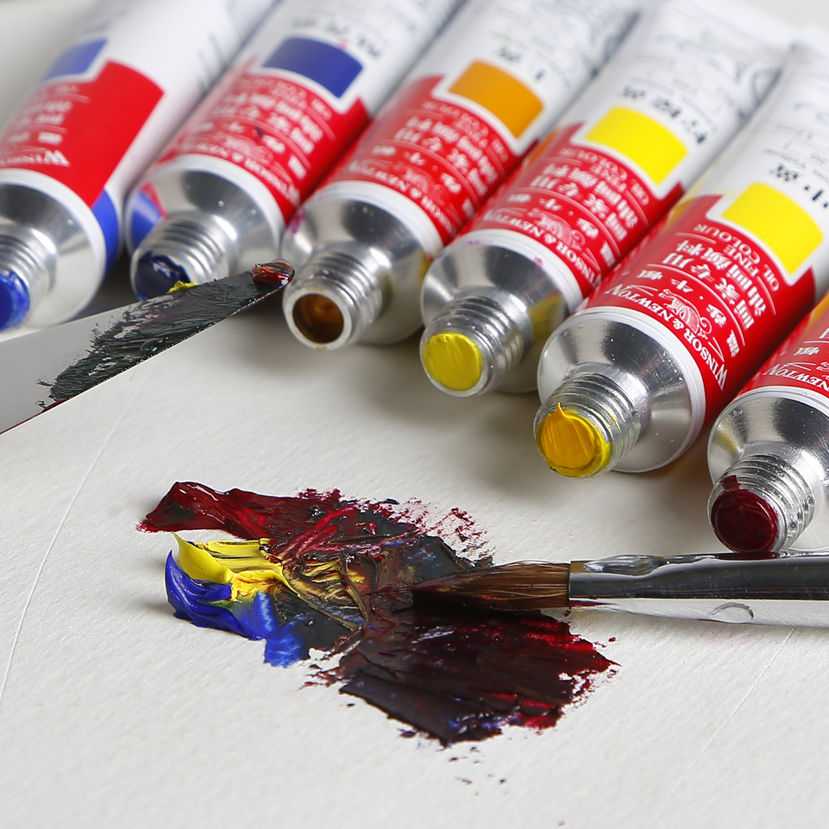 英国温莎牛顿油画颜料12色18色美术颜料管装油画颜料套装12ml