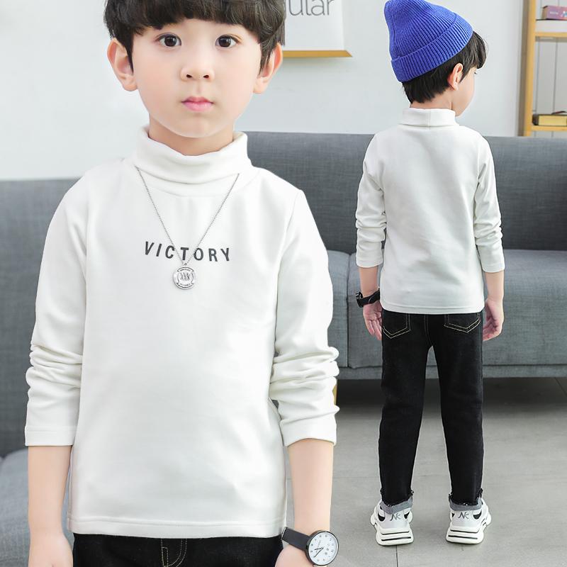 男童打底衫长袖2020新款春装薄款儿童装宝宝春秋女童t恤高领上衣