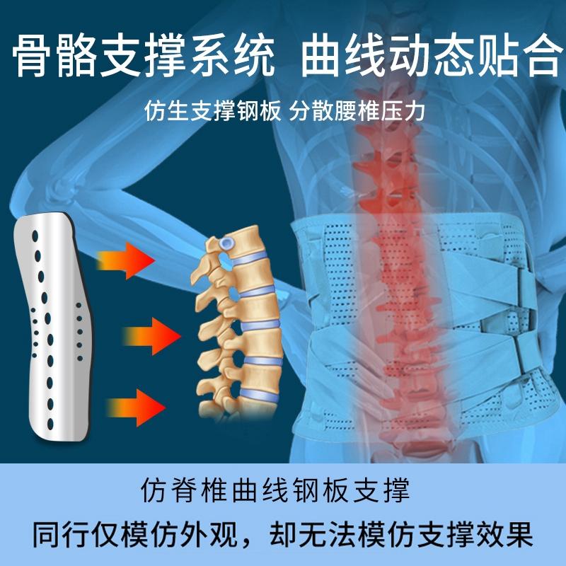 医用护腰带钢板腰托腰间盘突出老人腰椎劳损自发热固定带保暖男女
