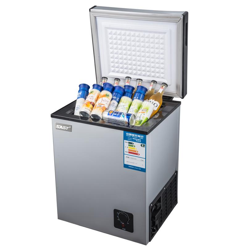 冷藏冷冻家用小型冰柜冷柜卧式冷柜冰柜迷你母乳柜 118L BC BD 先科