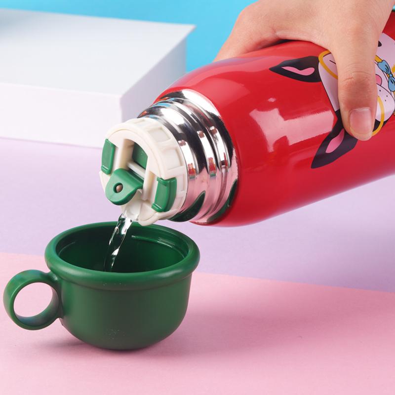 儿童保温杯带吸管两用316防摔水杯男女便携不锈钢轻便水壶幼儿园